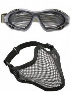 2 en 1 Combo - Skull Masque de tactique métallique de protection Skull & Lunettes Tactique Protection Airsoft de la marque image 0 produit