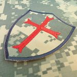 ACU Gray Subdued Crusaders Templar Cross US Marine Navy Seals DEVGRU Embroidered Attache-boucle Écusson Patch de la marque image 1 produit