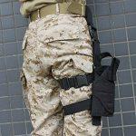 AGPtek Etui à Pistolet Holster De Cuisse Pistolet Jambe pour Armée Tactique En Nylon Noir et Réglable de la marque image 5 produit