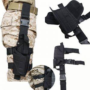 AGPtek Etui à Pistolet Holster De Cuisse Pistolet Jambe pour Armée Tactique En Nylon Noir et Réglable de la marque image 0 produit