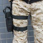 AGPtek Etui à Pistolet Holster De Cuisse Pistolet Jambe pour Armée Tactique En Nylon Noir et Réglable de la marque image 2 produit