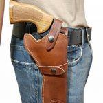 Barsony Holsters & Belts Taille 5 Colt Ruger S&W Droit marron Étui en cuir Western de la marque image 1 produit
