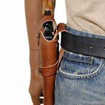 Barsony Holsters & Belts Taille 5 Colt Ruger S&W Droit marron Étui en cuir Western de la marque image 4 produit