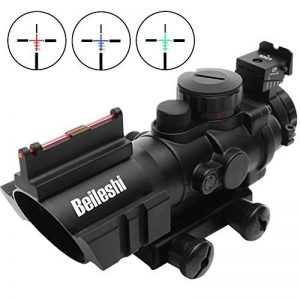 Beileshi Optics 4x32 Red / Green / Blue Triple Rapid Range Reticle Rifle Scope with Illuminated Fiber Optic Sight and That Top Slots de la marque image 0 produit