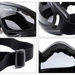 Coofit Masque Airsoft paintball 2 PCS Demi Masque Outdoor maille inox et lunettes de protection Masque métal extérieure (Noir Blanc) de la marque image 6 produit