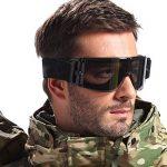 Cyclisme Goggle Moto Lunettes tactique réglable Airsoft Masque de l'armée Wind Proof Uv-400Lunettes de protection 3interchangeables Multi objectif anti-buée et anti-rayure Camouflage dans une housse de transport. de la marque image 1 produit