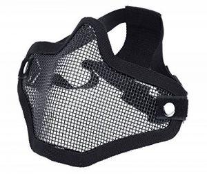 DCCN Demi-Masque de Visage Tactique Métal Mesh, Masque de protection pour CS Airsoft de Paintball Resistant de la marque image 0 produit