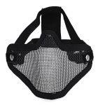 DCCN Demi-Masque de Visage Tactique Métal Mesh, Masque de protection pour CS Airsoft de Paintball Resistant de la marque image 1 produit
