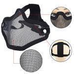 DCCN Demi-Masque de Visage Tactique Métal Mesh, Masque de protection pour CS Airsoft de Paintball Resistant de la marque image 3 produit