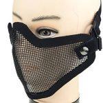 DCCN Demi-Masque de Visage Tactique Métal Mesh, Masque de protection pour CS Airsoft de Paintball Resistant de la marque image 6 produit