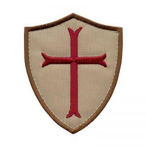 Desert AOR1 Crusaders Templar Cross US Marine Navy Seals DEVGRU Embroidered Attache-boucle Écusson Patch de la marque image 0 produit