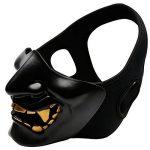Diable sourire Battlefield gardien Prajna Masque Airsoft demi-visage masque pour protéger Halloween Party de la marque image 1 produit
