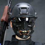 Diable sourire Battlefield gardien Prajna Masque Airsoft demi-visage masque pour protéger Halloween Party de la marque image 5 produit