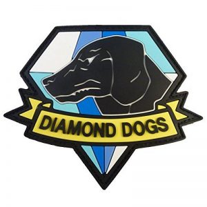 Diamond Dogs Metal Gear Solid Big Boss Snake PVC Gomme 3D Touch Fastener Écusson Patch de la marque image 0 produit