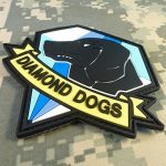 Diamond Dogs Metal Gear Solid Big Boss Snake PVC Gomme 3D Touch Fastener Écusson Patch de la marque image 2 produit
