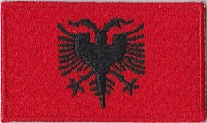 Drapeau Albanie Emblem Fer Coudre Patch Brodé Cosplay de la marque image 0 produit