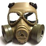 Dummy Anti Fog Gas Face Mask QMFIVE M04 Turbo Fan Airsoft paintbal protection des engins Générique Tactical Airsoft Paintball BB Gun Full Face Protégez le Mascara M04 avec Double Filtre de la marque image 4 produit