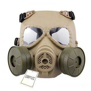 Dummy Anti Fog Gas Face Mask QMFIVE M04 Turbo Fan Airsoft paintbal protection des engins Générique Tactical Airsoft Paintball BB Gun Full Face Protégez le Mascara M04 avec Double Filtre de la marque image 0 produit