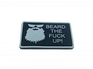 Empiècement Airsoft PVC Beard The Fuck Up Noir de la marque image 0 produit