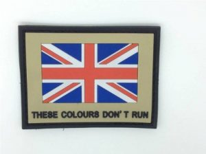 "Empiècement Union Jack PVC Airsoft ""These Colours Don't Run "" de la marque image 0 produit"
