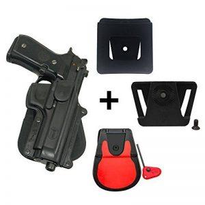 Fobus kit 360 rotating roto paddle retention holster + belt attachment + 6cm police wide duty belt adapter for Beretta 92F/96 except Brig. & Elite / Taurus PT 92 cs Feg P9R de la marque image 0 produit