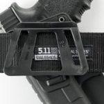 Fobus kit rotating roto paddle trigger guard lock tactical saftey retention holster + belt attachment + 6cm police wide duty belt adapter for Glock 17, 19, 22, 23, 31, 32, 34, 35 de la marque image 3 produit