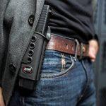 Fobus kit rotating roto paddle trigger guard lock tactical saftey retention holster + belt attachment + 6cm police wide duty belt adapter for Glock 17, 19, 22, 23, 31, 32, 34, 35 de la marque image 6 produit