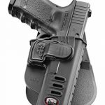Fobus kit rotating roto paddle trigger guard lock tactical saftey retention holster + belt attachment + 6cm police wide duty belt adapter for Glock 17, 19, 22, 23, 31, 32, 34, 35 de la marque image 1 produit