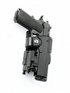 """Fobus nouveau report dissimulé rétention réglable pistolet étui avec sangle de sécurité pour plus Colt 1911 pistolets de style, 5 / Springfield 5"""" 1911 .45cal avec des rails / 5 inch Kimber 1911 pistolets .45 cal avec des rails / Browning Hi-Power 5in pol image 0 produit"""