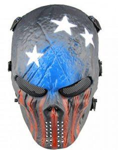 Full Face Airsoft Masque Imprimé étoiles facile haleine voir par le Masque de paintball avec maille métallique protection des yeux de la marque image 0 produit