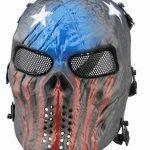 Full Face Airsoft Masque Imprimé étoiles facile haleine voir par le Masque de paintball avec maille métallique protection des yeux de la marque image 1 produit
