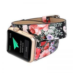 Gaddrt Bracelet en cuir longue bande double Circle tour de montre pour Apple Watch 38 mm de la marque image 0 produit