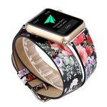 Gaddrt Bracelet en cuir longue bande double Circle tour de montre pour Apple Watch 38 mm de la marque image 1 produit
