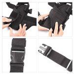 GES Tactique Pistolet Étui pour cuisses Réglables sacs de drop Pistol pour Les shooters droitiers (Noir) de la marque image 3 produit