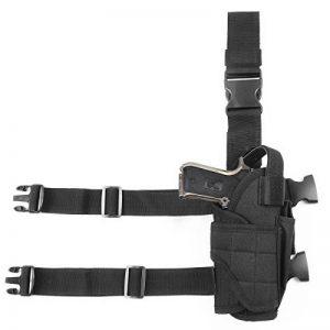 GES Tactique Pistolet Étui pour cuisses Réglables sacs de drop Pistol pour Les shooters droitiers (Noir) de la marque image 0 produit