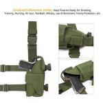 GES Tactique Pistolet Étui pour cuisses Réglables sacs de drop Pistol pour Les shooters droitiers (Vert) de la marque image 1 produit