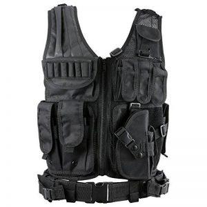 Gonex Gilet Tactique Militaire Gilet de Combat Veste Extérieure Pour Airsoft Jeu CS Militaire Cosplay Noir de la marque image 0 produit