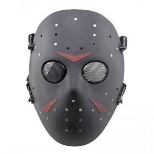 Haoyk CS Jeux Jason Masque SafeGuard Full Face Masque de protection en maille métallique pour Halloween Masquerade Cosplay Costume Party (Noir) de la marque image 0 produit