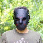 Haoyk CS Jeux Jason Masque SafeGuard Full Face Masque de protection en maille métallique pour Halloween Masquerade Cosplay Costume Party (Noir) de la marque image 5 produit