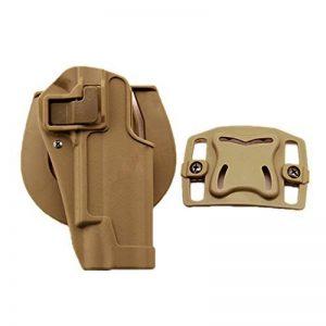 haoYK Pistolet tactique Airsoft dissimulation tirage main droite Paddle ceinture Holster Pouch pour Colt 1911 de la marque image 0 produit