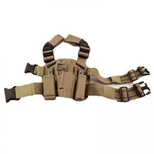 haoYK Réglable Tactique Airsoft Pistolet Goutte Leg Holster Sac Cuisse Droite Holster Leg avec Magazine Torch Pouch pour Colt 1911 M1911 de la marque image 0 produit