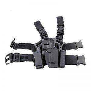 haoYK Réglable Tactique Airsoft Pistolet Gauche Leg Holster Sac Cuisse Droite Holster Leg avec Magazine Torch Pouch pour M9 M92 de la marque image 0 produit