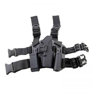 haoYK Sac de Holster Tactique Airsoft Pistolet Tactique Holster Cuisse Droite avec Magazine Pochette pour Glock 17 19 22 23 31 32 de la marque image 0 produit
