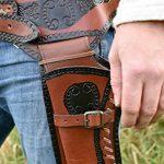 Holster Western de Cuir Ceinture Revolver Revolver avec deux Étui Cowboy Western Ceinture pistolet de la marque image 1 produit