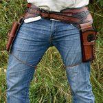 Holster Western de Cuir Ceinture Revolver Revolver avec deux Étui Cowboy Western Ceinture pistolet de la marque image 2 produit