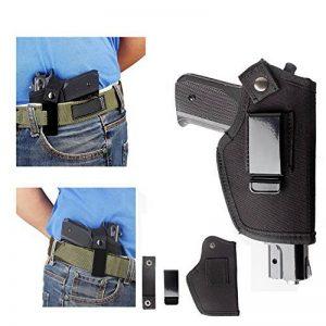 IWB Holster tactique de pistolet Glock 171923262743m & P Shield 9mm Clip ceinture Beretta 92universel 1911Compact Ceinture gauche Main droite Springfield Xds Ruger LCP cachée de transport avec clip de la marque image 0 produit