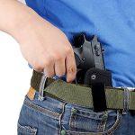 IWB Holster tactique de pistolet Glock 171923262743m & P Shield 9mm Clip ceinture Beretta 92universel 1911Compact Ceinture gauche Main droite Springfield Xds Ruger LCP cachée de transport avec clip de la marque image 2 produit