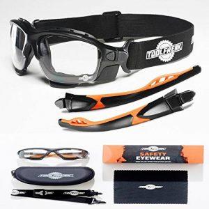 Les lunettes de sécurité spoggles haut de gamme par ToolFreak   une combinaison parfaite de lunettes de sécurité et de lunettes de protection   Rembourrées de mousse   Lunettes de protection élégantes   Anti-rayure   Protection contre les rayons ultra vio image 0 produit