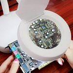 Loupe de bureau HD 5fois Grossissement lampe d'éclairage LED multifonction étudier l'apprentissage Maintenance Loupe de table de la marque image 4 produit