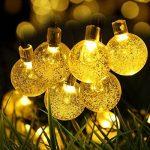 lumineuse solaire Globe clair, gdealer 30 LED boule de cristal LED Guirlande lumineuse Guirlande lumineuse d'extérieur étanche à énergie solaire Globe pour jardin extérieur, jardin, maison, paysage, Halloween Fête de Noël de la marque image 1 produit